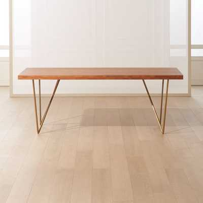 "Dylan Brass Table 36""x80"" - CB2"