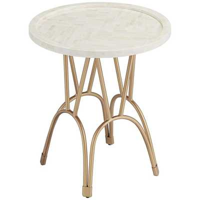 Osso Gold Mosaic Bone Accent Table - Style # 76X46 - Lamps Plus
