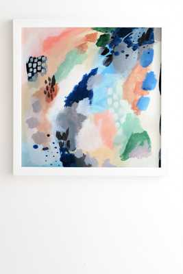 "SEASONS ABSTRACT White Framed Wall Art By Laura Fedorowicz 30""x30"" - Wander Print Co."