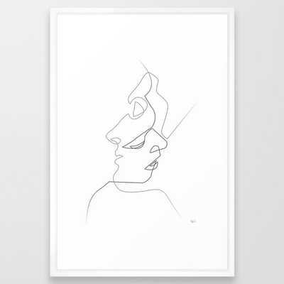 Close on white Framed Art Print - Society6