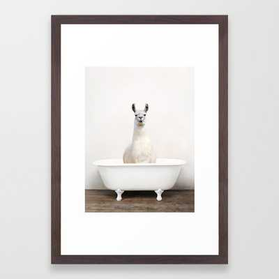 llama Bath (c) Framed Art Print - Society6