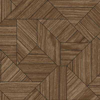Wood Geometric Sure Strip Wallpaper - York Wallcoverings