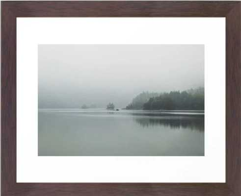 Fog - Landscape Photography Framed Art Print - 10 X 12, Conservation Walnut - Society6