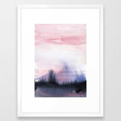 Abstract Watercolor Forest Framed Art Print - Society6