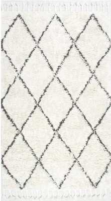 Twinar Hand-Knotted White Area Rug 8' x10' - Wayfair