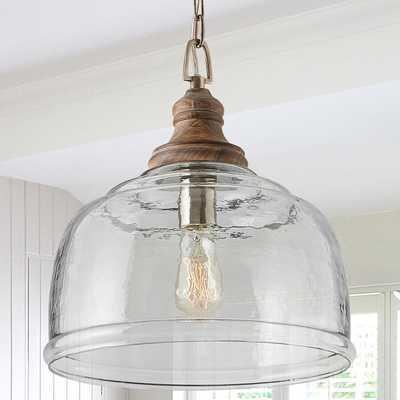 Aversa Rippled Glass Pendant Amber 5.5 - Cal Lighting - Shades of Light