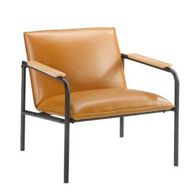 Irene Armchair- fauc leather camel - Wayfair