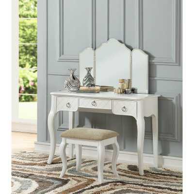 Caden Tri Fold Vanity Set with Mirror - Birch Lane