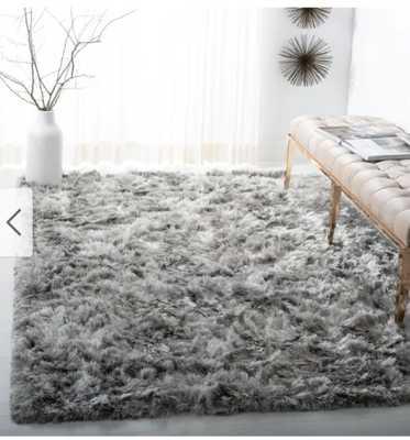 Safavieh Handmade Ocean Shag Lyse Glam Solid Polyester Rug - 10' x 14' - Silver - Overstock