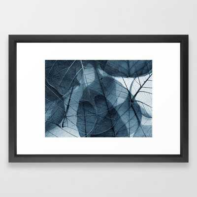 blue leaf III Framed Art Print - Society6