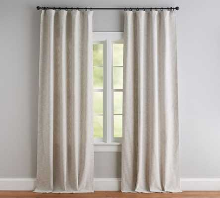 "Seaton Textured Curtain, 50 x 96"", Neutral Cotton Lining - Pottery Barn"