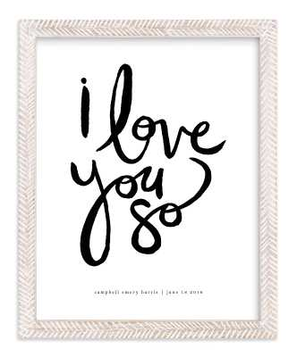 "I Love You So Wall Art /  12.1"" X 15.1"" - Minted"