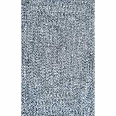 Handmade Braided Blue/White Indoor Area Rug - Wayfair
