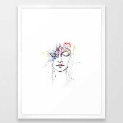 Colorful Woman Framed Art Print - Society6