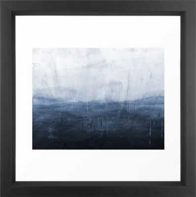 The Storm - Ocean Painting Framed Art Print, 12 X 12, Vector Black - Society6