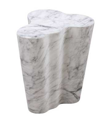 Evelynn Marble Tall Side Table - Maren Home