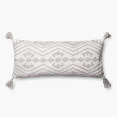 "P0600 GREY / IVORY - 12"" X 27"" Cover w/poly - Loma Threads"