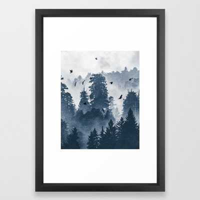 "Amazing Forest Morning Nature Photography Framed Art Print - Vector Black Frame - 15"" x 21"" - Society6"