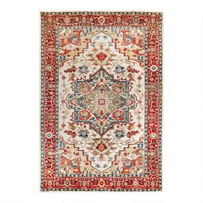 Ivory And Spice Red Medallion Area Rug - World Market/Cost Plus
