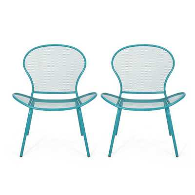 Yoshida Modern Outdoor Patio Chair (Set of 2) - Wayfair