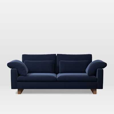 "Harmony 82"" Sofa (2.5 Seater), Performance Velvet, Ink Blue - West Elm"