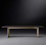 "CHANNEL RECTANGULAR DINING TABLE 96"" - RH"