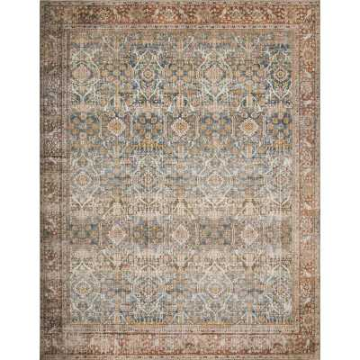 Djanira Ocean/Rust Area Rug - Wayfair