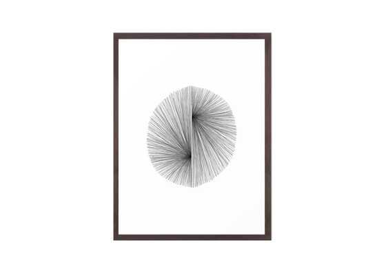 Mid Century Modern Geometric Abstract Radiating Lines Framed Art Print - Society6