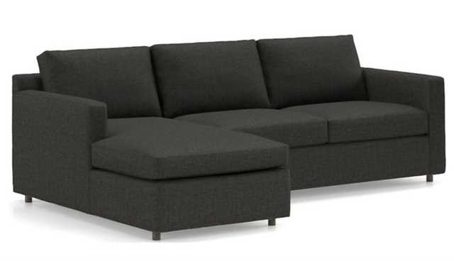 Barrett 2-Piece Left Arm Chaise Sectional, Galaxy Smoke - Crate and Barrel