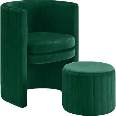 Malek Barrel Chair and Ottoman - Wayfair