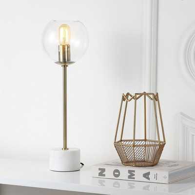 Caden 22.25-Inch H Table Lamp - Brass Gold/White - Arlo Home - Arlo Home