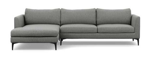 OWENS Sectional Sofa with Left Chaise - 106W with black legs - Interior Define