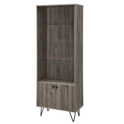 Slate Gray Cavender Modern Storage Standard Bookcase - Wayfair