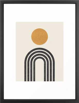 "Mid century modern gold Framed Art Print, 20"" X 26"", Vector Black - Society6"