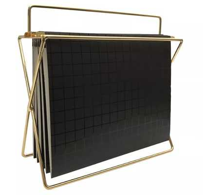 Hanging File Holder with Folders Gold/Black Grid - Project 62™ - Target
