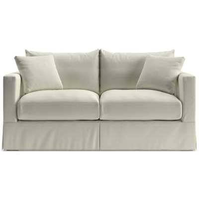 Willow Modern Slipcovered Full Sleeper Sofa with Air Mattress - Crate and Barrel