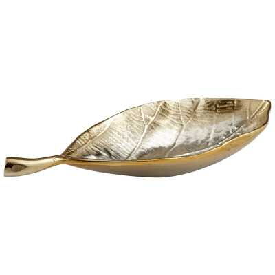 Mocking Leaf Tray, Silver/Gold - Wayfair