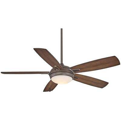 "54"" Minka Aire Lun-Aire Oil Rubbed Bronze LED Ceiling Fan - Lamps Plus"
