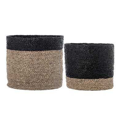 Natural Seagrass Wicker 2 Piece Basket Set - Wayfair