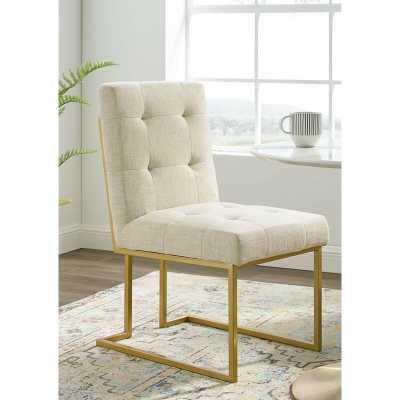 Beige Privy Upholstered Dining Side Chair - Wayfair