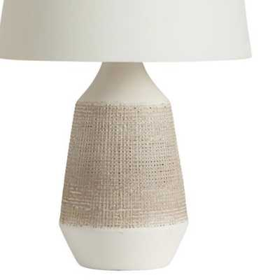 White And Gray Textured Ceramic Table Lamp Base - World Market/Cost Plus