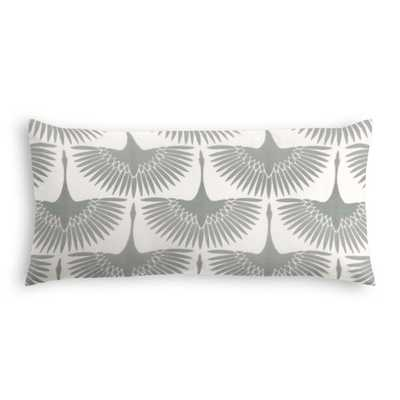 Wing it -Lunar Lumbar Pillow with Down Insert - Loom Decor