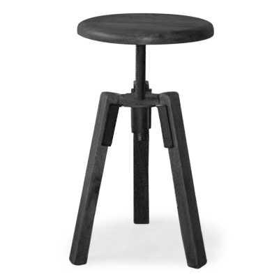 Black Perez Pedestal End Table - Wayfair