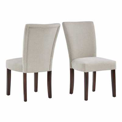 Lancaster Upholstered Dining Chair / Cherry/Beige - Wayfair