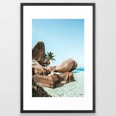 The Paradise - La Digue Island, Seychelles Framed Art Print - Society6
