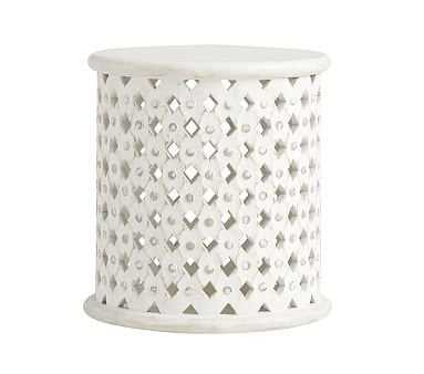 Stella Side Table, Antique White, In-home - Pottery Barn Kids