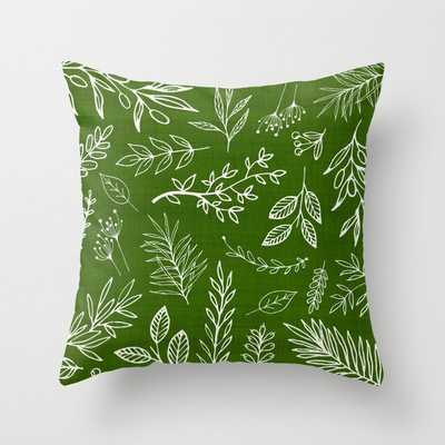 Emerald Forest Throw Pillow - Society6