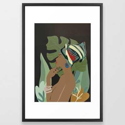 Woman with a Tuban Framed Art Print - Society6