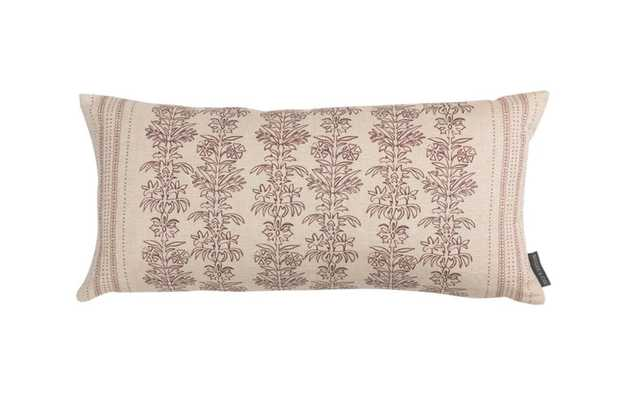 DEMI FLORAL STRIPE PILLOW COVER - McGee & Co.