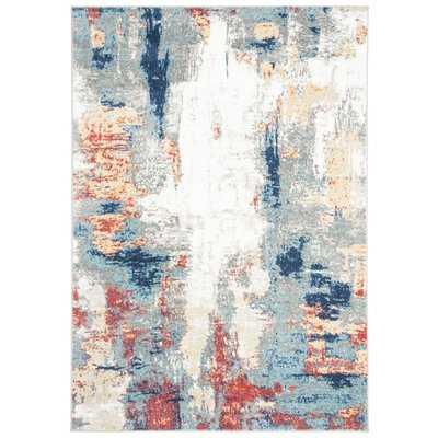 Muro Gray/Red Area Rug - Wayfair
